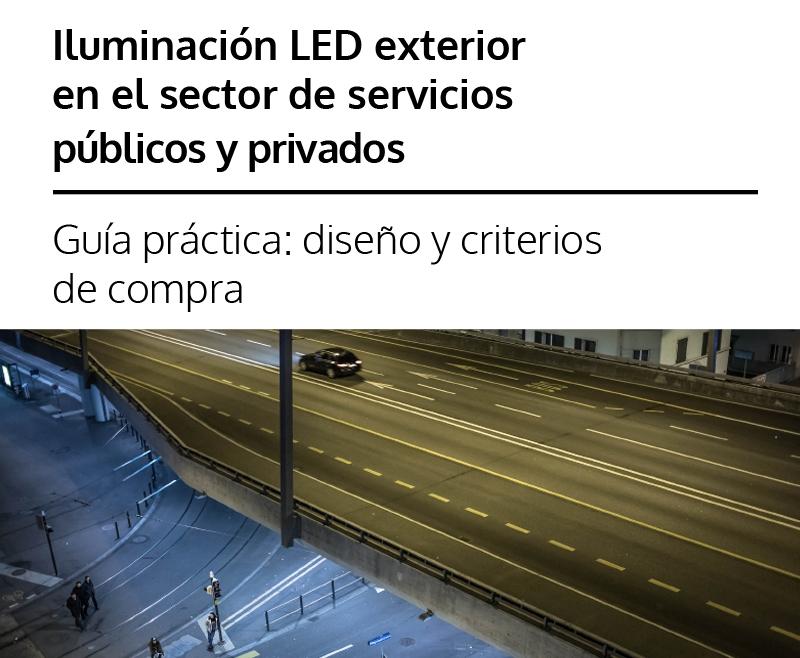 Iluminación LED exterior en el sector de servicios públicos y privados