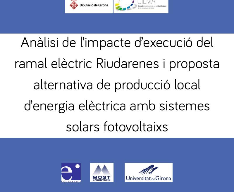 Anàlisi de l'impacte de l'execució i proposta d'alternativa de producció local d'energia elèctrica mitjançant sistemes solars fotovoltaics