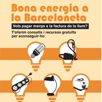 """Campanya """"Bona energia a la Barceloneta"""". Informe de resultats."""