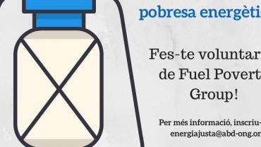 FÓRMATE COMO VOLUNTARIA DEL FUEL POVERTY GROUP Y UNETE EN LA LUCHA CONTRA LA POBREZA ENERGÉTICA