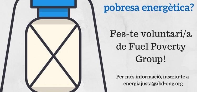 Fórmate como voluntario del Fuel Poverty Group y únete en la lucha contra la pobreza energética