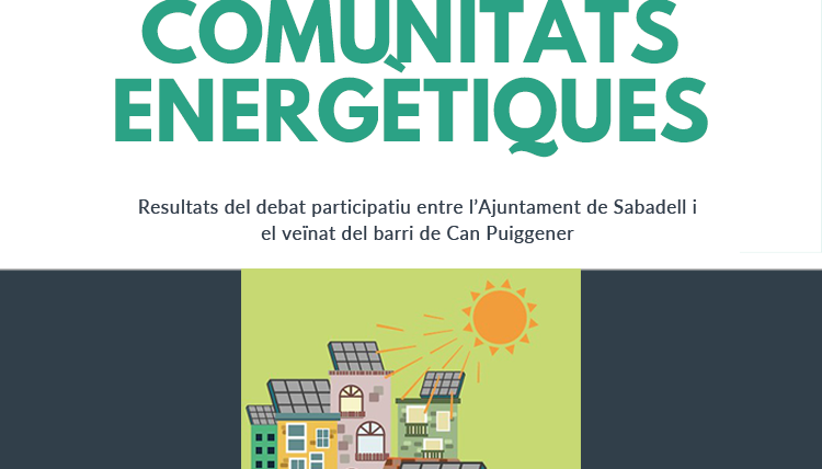 Resultados del debate participativo Impulso de Comunidades Energéticas