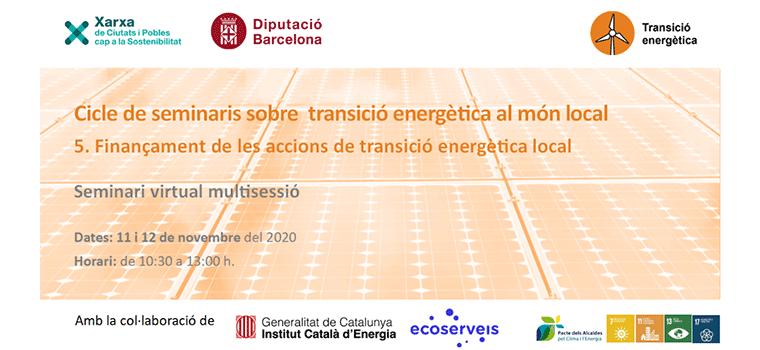 Financiación de las acciones de transición energética en el mundo local