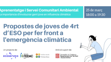 Joves de 4rt d'ESO de Salt i Barcelona presenten propostes d'acció climàtica